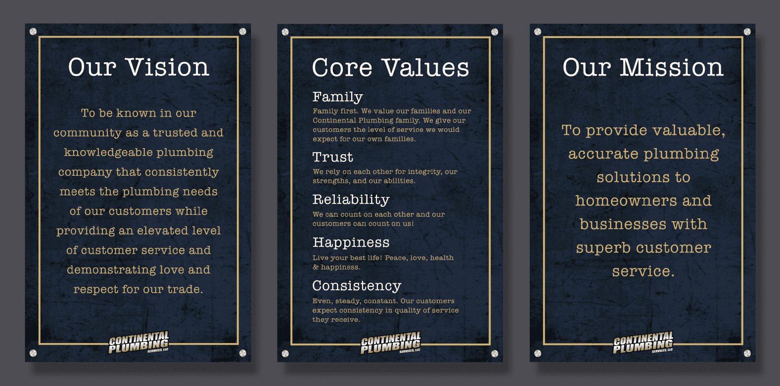 Our Vision. Core Values. Our Mission.