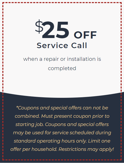$25 off plumbing service coupon